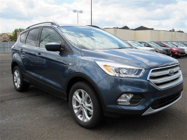 2018 Blue Metallic Ford Escape SEL EcoBoost 1.5L I4 GTDi DOHC Turbocharged VCT Engine 4 Door 4X4 Automatic SUV