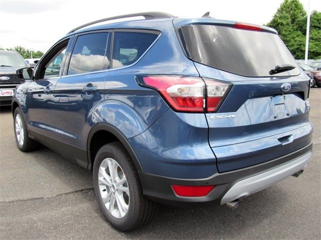 2018 Blue Metallic Ford Escape SEL Automatic 4X4 4 Door EcoBoost 1.5L I4 GTDi DOHC Turbocharged VCT Engine SUV