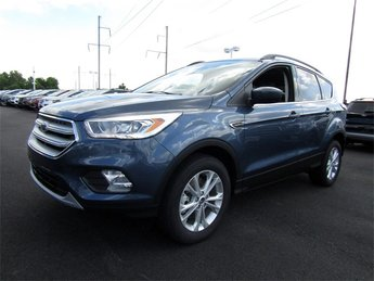 2018 Blue Metallic Ford Escape SEL EcoBoost 1.5L I4 GTDi DOHC Turbocharged VCT Engine Automatic SUV