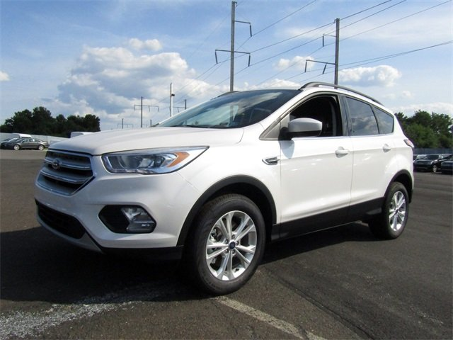 2018 White Platinum Metallic Tri-Coat Ford Escape SEL 4 Door SUV 4X4 EcoBoost 1.5L I4 GTDi DOHC Turbocharged VCT Engine Automatic