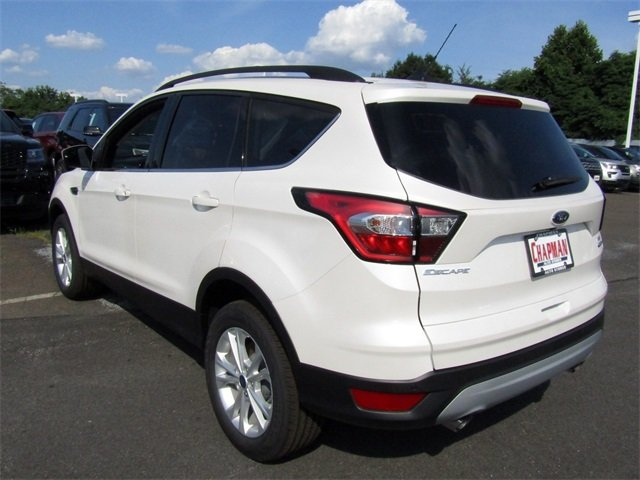 2018 White Platinum Metallic Tri-Coat Ford Escape SEL 4 Door Automatic 4X4 SUV EcoBoost 1.5L I4 GTDi DOHC Turbocharged VCT Engine
