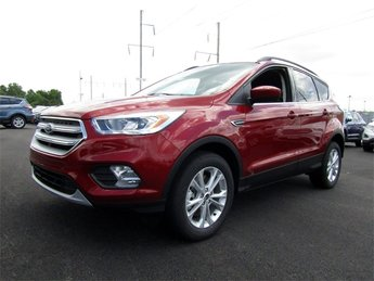 2018 Ruby Red Metallic Tinted Clearcoat Ford Escape SEL SUV 4X4 4 Door Automatic EcoBoost 1.5L I4 GTDi DOHC Turbocharged VCT Engine