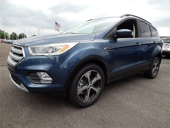2018 Blue Metallic Ford Escape SEL SUV 4X4 EcoBoost 1.5L I4 GTDi DOHC Turbocharged VCT Engine Automatic