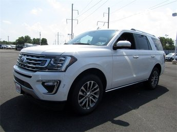 2018 White Ford Expedition Limited Automatic EcoBoost 3.5L V6 GTDi DOHC 24V Twin Turbocharged Engine 4X4 SUV 4 Door