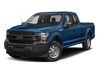 2018 Lightning Blue Ford F-150 XLT 4 Door 4X4 EcoBoost 3.5L V6 GTDi DOHC 24V Twin Turbocharged Engine Truck Automatic
