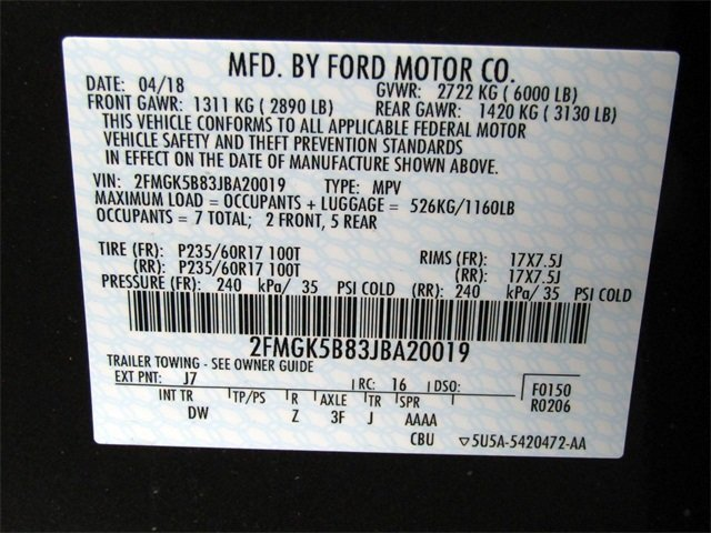 2018 Ford Flex SE FWD 3.5L V6 Ti-VCT Engine SUV Automatic
