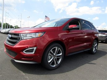 2018 Ruby Red Metallic Tinted Clearcoat Ford Edge Sport SUV Automatic 4 Door EcoBoost 2.7L V6 GTDi DOHC 24V Twin Turbocharged Engine AWD