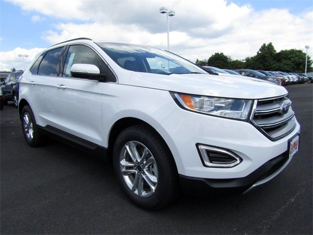 2018 Oxford White Ford Edge SEL 4 Door Automatic SUV AWD EcoBoost 2.0L I4 GTDi DOHC Turbocharged VCT Engine