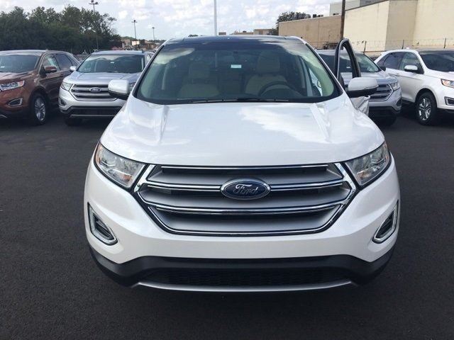 2017 White Platinum Metallic Tri-Coat Ford Edge SEL SUV 4 Door EcoBoost 2.0L I4 GTDi DOHC Turbocharged VCT Engine AWD