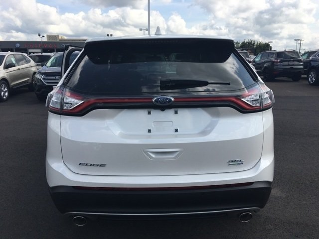 2017 White Platinum Metallic Tri-Coat Ford Edge SEL Automatic SUV EcoBoost 2.0L I4 GTDi DOHC Turbocharged VCT Engine