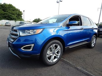 2018 Lightning Blue Metallic Ford Edge Titanium EcoBoost 2.0L I4 GTDi DOHC Turbocharged VCT Engine SUV 4 Door