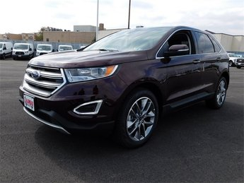 2018 Burgundy Velvet Metallic Tinted Clearcoat Ford Edge Titanium AWD SUV EcoBoost 2.0L I4 GTDi DOHC Turbocharged VCT Engine