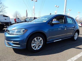 2018 Blue Volkswagen Golf TSI S 4-Door 1.8L 4-Cylinder TSI DOHC 16V Turbocharged Engine FWD Hatchback Automatic