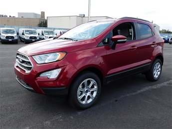 2018 Ruby Red Metallic Tinted Clearcoat Ford EcoSport SE SUV I4 Engine 4X4