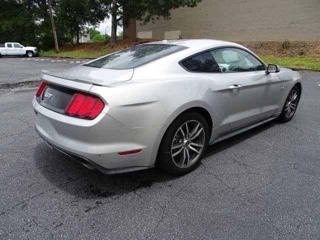 2015 Ingot Silver Metallic Ford Mustang GT Premium RWD Automatic 2 Door Coupe Premium Unleaded V-8 5.0 L/302 Engine
