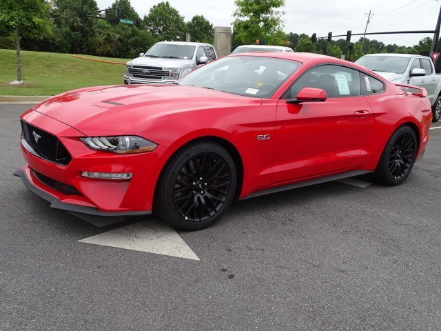 2019 Race Red Ford Mustang GT Premium RWD Coupe Premium Unleaded V-8 5.0 L/302 Engine 2 Door