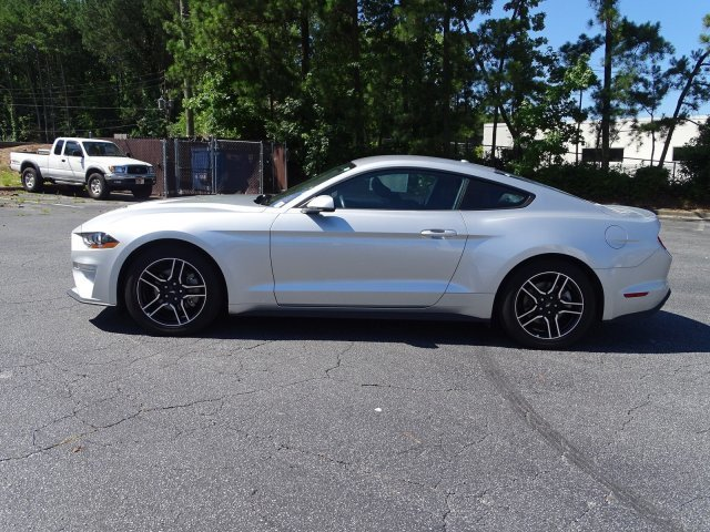 2018 Ingot Silver Metallic Ford Mustang EcoBoost Premium Coupe Intercooled Turbo Premium Unleaded I-4 2.3 L/140 Engine RWD 2 Door Automatic