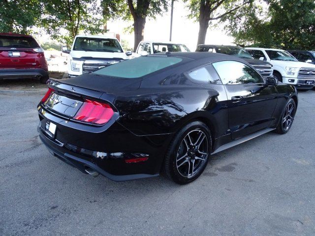 2018 Shadow Black Ford Mustang EcoBoost Premium Intercooled Turbo Premium Unleaded I-4 2.3 L/140 Engine Coupe RWD Automatic 2 Door