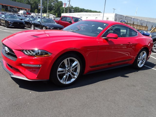2019 Race Red Ford Mustang EcoBoost Premium RWD 2 Door Intercooled Turbo Premium Unleaded I-4 2.3 L/140 Engine