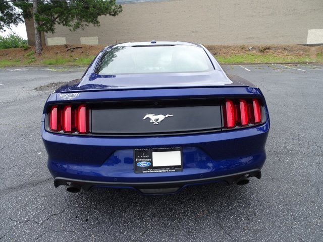 2015 Deep Impact Blue Metallic Ford Mustang EcoBoost Premium 2 Door Intercooled Turbo Premium Unleaded I-4 2.3 L/140 Engine RWD Automatic