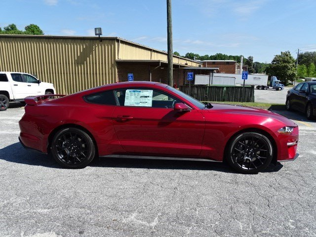2019 Ruby Red Metallic Tinted Clearcoat Ford Mustang EcoBoost Intercooled Turbo Premium Unleaded I-4 2.3 L/140 Engine RWD 2 Door Automatic Coupe