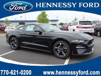 2019 Shadow Black Ford Mustang EcoBoost Intercooled Turbo Premium Unleaded I-4 2.3 L/140 Engine Coupe Automatic