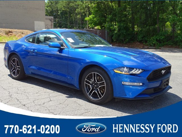 2018 Lightning Blue Metallic Ford Mustang EcoBoost Premium Coupe RWD Automatic