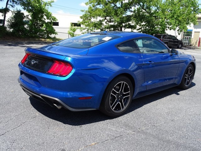 2018 Lightning Blue Metallic Ford Mustang EcoBoost Premium 2 Door Coupe Automatic RWD Intercooled Turbo Premium Unleaded I-4 2.3 L/140 Engine