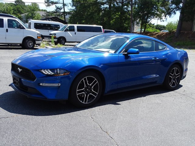 2018 Lightning Blue Metallic Ford Mustang EcoBoost Premium Intercooled Turbo Premium Unleaded I-4 2.3 L/140 Engine Coupe Automatic