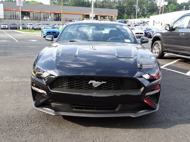 2019 Shadow Black Ford Mustang EcoBoost Coupe Intercooled Turbo Premium Unleaded I-4 2.3 L/140 Engine 2 Door RWD