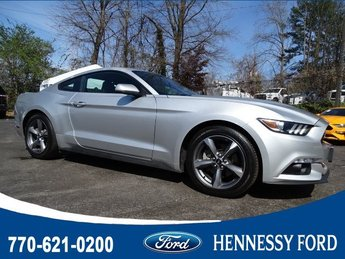 2017 Ingot Silver Metallic Ford Mustang EcoBoost Intercooled Turbo Premium Unleaded I-4 2.3 L/140 Engine Coupe RWD Automatic