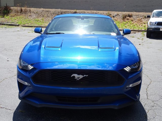 2018 Lightning Blue Metallic Ford Mustang EcoBoost Premium 2 Door Intercooled Turbo Premium Unleaded I-4 2.3 L/140 Engine Automatic Coupe