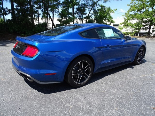 2018 Lightning Blue Metallic Ford Mustang EcoBoost Premium Intercooled Turbo Premium Unleaded I-4 2.3 L/140 Engine RWD 2 Door Automatic