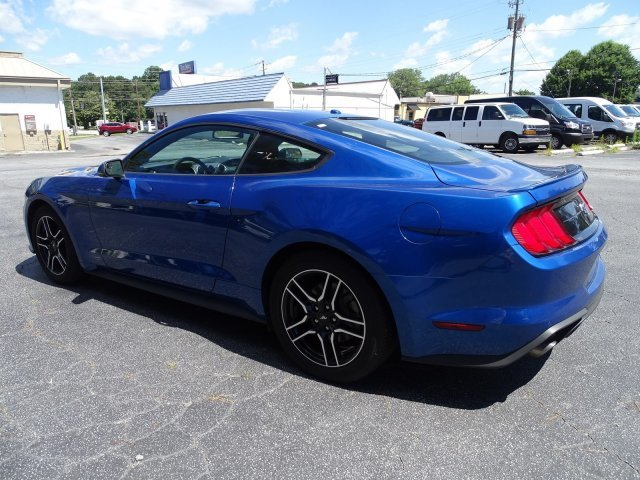 2018 Lightning Blue Metallic Ford Mustang EcoBoost Premium Automatic RWD Intercooled Turbo Premium Unleaded I-4 2.3 L/140 Engine 2 Door