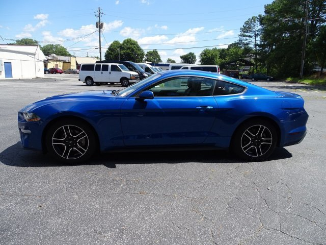 2018 Lightning Blue Metallic Ford Mustang EcoBoost Premium 2 Door Intercooled Turbo Premium Unleaded I-4 2.3 L/140 Engine Automatic