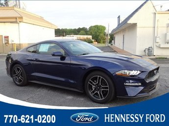 2018 Kona Blue Metallic Ford Mustang EcoBoost Premium Automatic Coupe RWD 2 Door