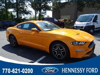 2018 Orange Fury Metallic Tri-Coat Ford Mustang EcoBoost Premium Coupe 2 Door Automatic