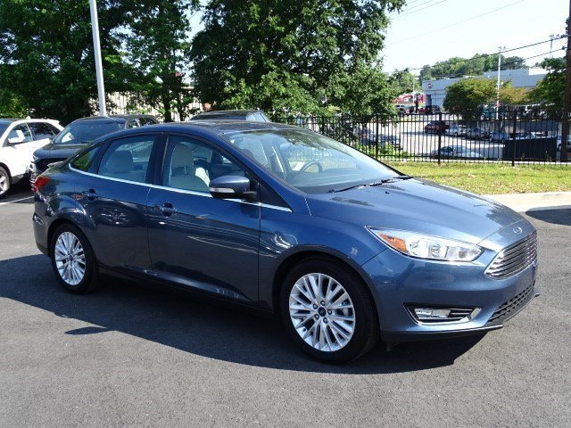 2018 Blue Metallic Ford Focus Titanium Automatic 4 Door Sedan Regular Unleaded I-4 2.0 L/122 Engine FWD