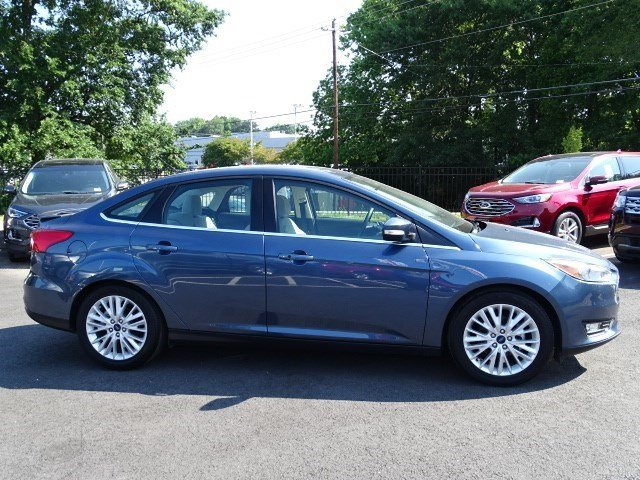 2018 Blue Metallic Ford Focus Titanium FWD 4 Door Regular Unleaded I-4 2.0 L/122 Engine Automatic
