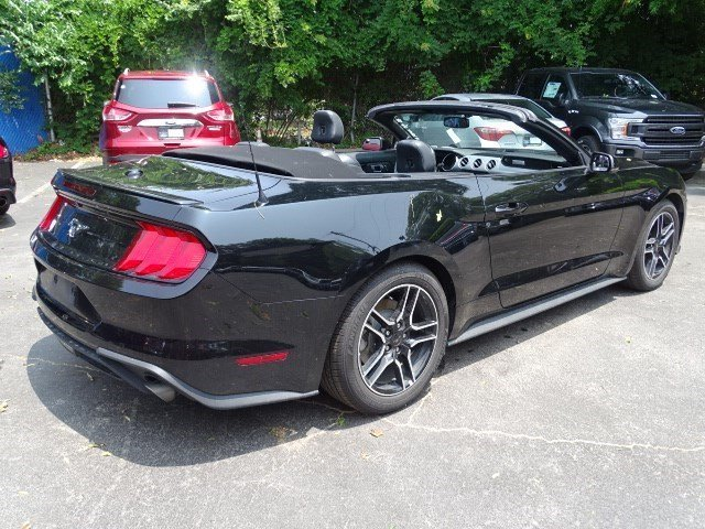 2018 Shadow Black Ford Mustang EcoBoost Premium Intercooled Turbo Premium Unleaded I-4 2.3 L/140 Engine RWD 2 Door Automatic Convertible