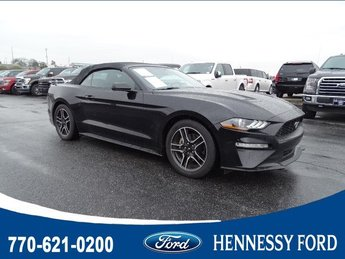 2018 Shadow Black Ford Mustang EcoBoost Premium Automatic Convertible RWD Intercooled Turbo Premium Unleaded I-4 2.3 L/140 Engine