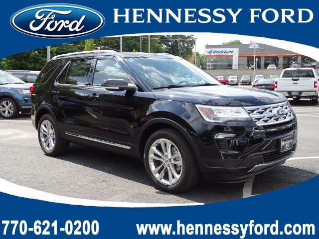 2019 Agate Black Metallic Ford Explorer XLT Regular Unleaded V-6 3.5 L/213 Engine FWD Automatic