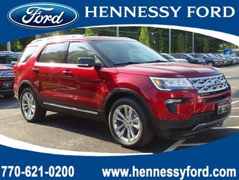 2019 Ruby Red Metallic Tinted Clearcoat Ford Explorer XLT SUV 4 Door Automatic