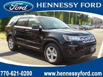 2019 Agate Black Metallic Ford Explorer XLT Regular Unleaded V-6 3.5 L/213 Engine SUV 4 Door