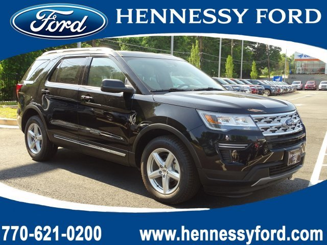 2019 Agate Black Metallic Ford Explorer XLT Automatic Regular Unleaded V-6 3.5 L/213 Engine SUV FWD