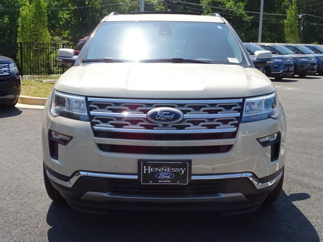 2018 Platinum Dune Metallic Tri-Coat Ford Explorer Limited FWD SUV 4 Door Intercooled Turbo Premium Unleaded I-4 2.3 L/140 Engine