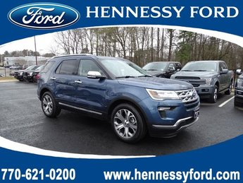 2019 Blue Metallic Ford Explorer Limited FWD 4 Door SUV