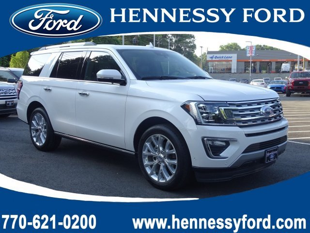 2019 White Platinum Metallic Tri-Coat Ford Expedition Limited RWD Twin Turbo Premium Unleaded V-6 3.5 L/213 Engine Automatic SUV 4 Door
