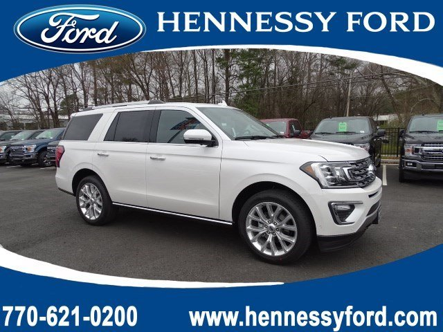2019 White Platinum Metallic Tri-Coat Ford Expedition Limited Twin Turbo Premium Unleaded V-6 3.5 L/213 Engine 4X4 4 Door SUV