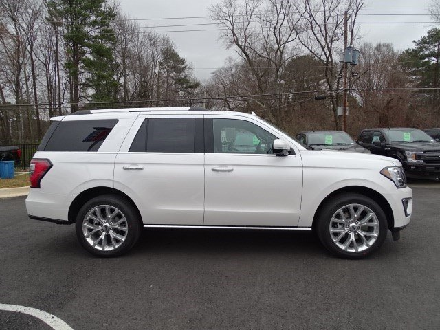 2019 White Platinum Metallic Tri-Coat Ford Expedition Limited SUV Automatic Twin Turbo Premium Unleaded V-6 3.5 L/213 Engine 4X4